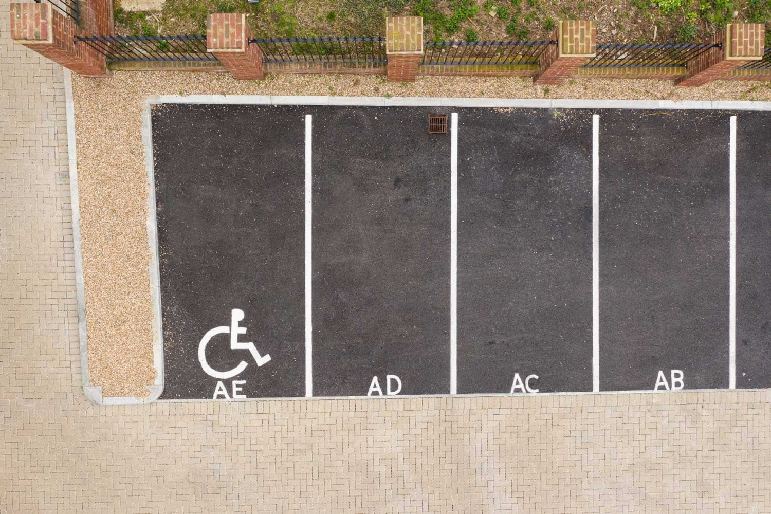 Car Park layout birdseye view
