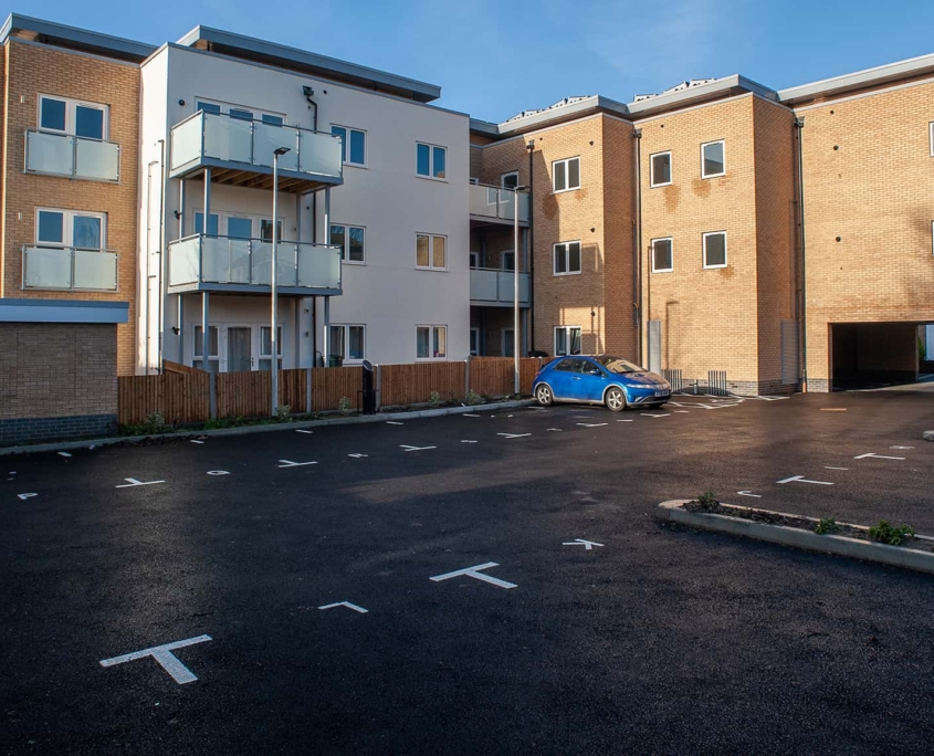 Development of flats with car parking
