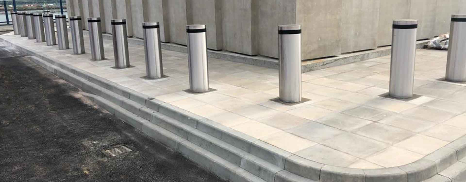 Anti terrorist bollards installed at London City Airport