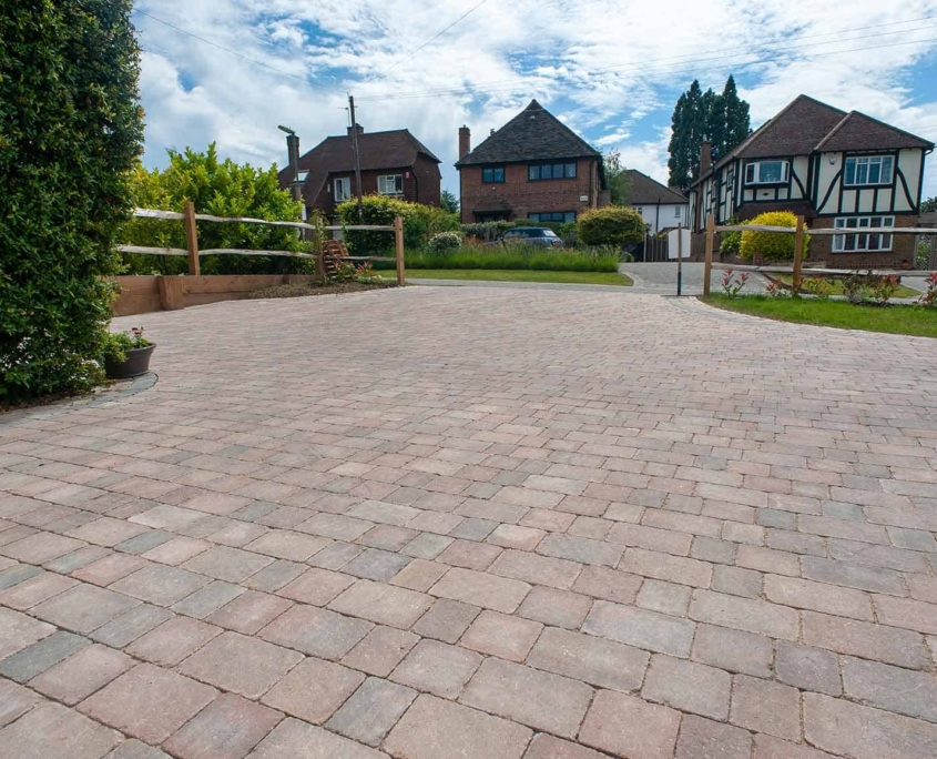 Large block paved driveway in Epsom Surrey