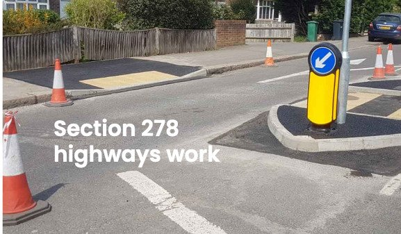 Section 278 work carried out for Surrey County Council