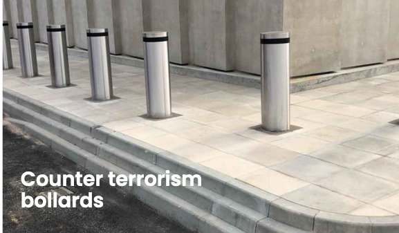 Security bollards installed at London City Airport