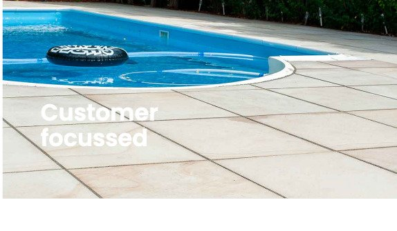 Patio surround for small swimming pool