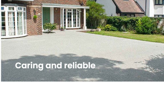 Light grey resin bound driveway in Epsom