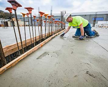 Concrete screeding for large housing develpoment