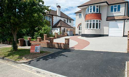 Dropped Kerb with resin driveway in Epsom