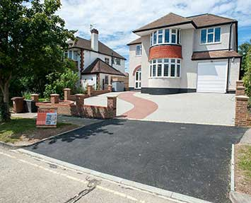 Resin driveway with dropped kerb in Sutton Surrey