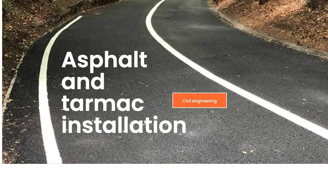 Asphalt and tarmac installation