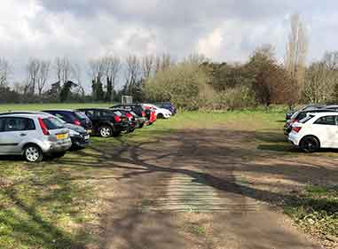 School car park before school ground works to tarmac new car park