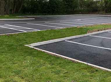 Completed school ground works car park