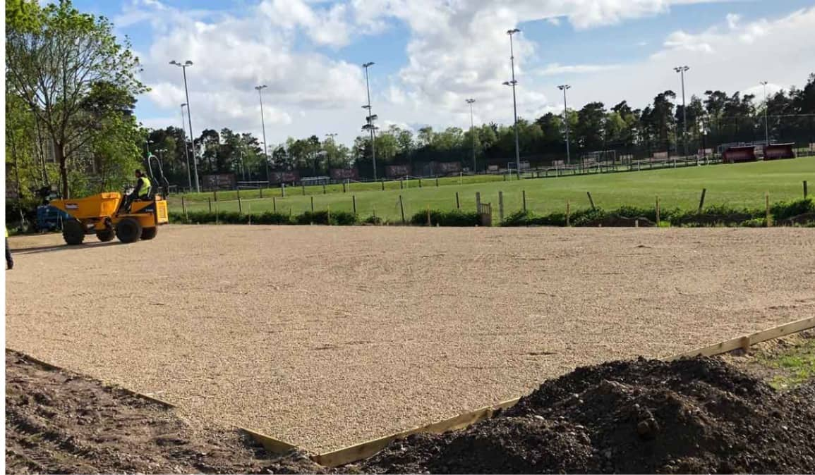 Laying ground for new tarmac car park