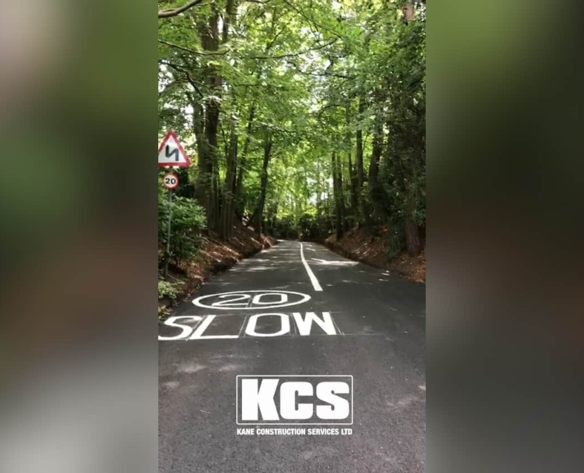 Road resurfacing in camberley Surrey