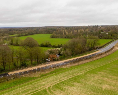 Road widening of the A246 at West Horsley Place
